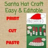 Editable Santa Hat Name/ Sight Word Puzzle