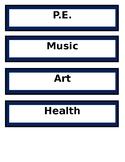 Editable Schedule