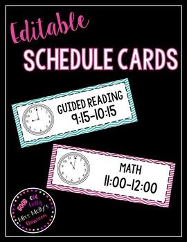 Schedule Cards (Editable)