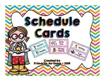 Editable Schedule Cards
