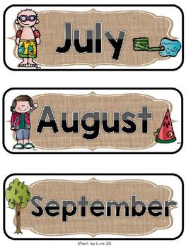 Editable Schedule Cards {Camping, Burlap, Chevron}