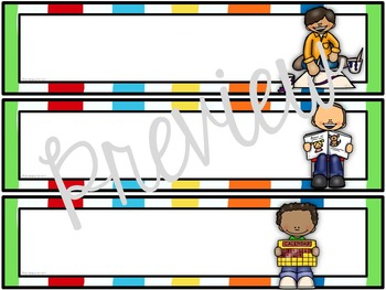 Schedule Cards for the Classroom Carnival Circus Theme