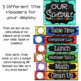 Editable Schedule Cards- Chalkboard Brights Classroom Decor