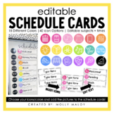 Editable Schedule Cards   Daily Schedule