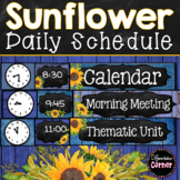Editable Schedule Cards- Farmhouse Classroom Decor Theme