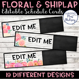 Editable Schedule Cards (Floral and Shiplap)