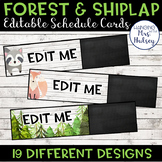 Editable Schedule Cards (Forest and Shiplap)