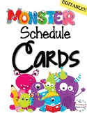 Editable Schedule Cards Monster Theme