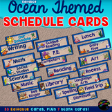 Editable Schedule Cards—Ocean Themed