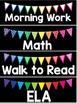 Editable Schedule Cards- Pennants