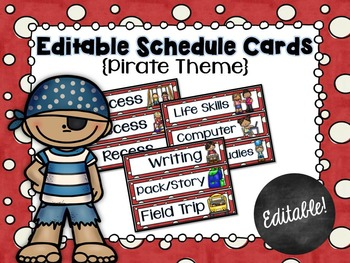 Schedule Cards for the Classroom Pirate Theme