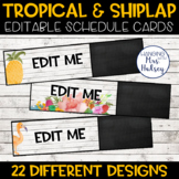 Editable Schedule Cards (Tropical and Shiplap)