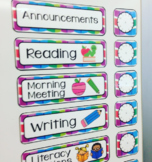 Editable Schedule Cards - With Clocks!