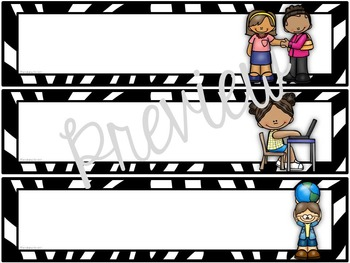 Schedule Cards for the Classroom Zebra Theme