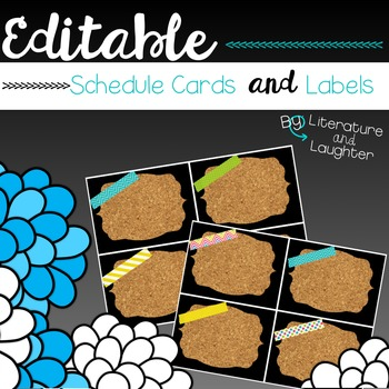 Editable Schedule Cards and Labels