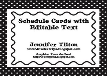 Editable Schedule Cards in Polka-Dot Patterns