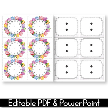 Editable Schedule Cards with Clipart, Daily Schedule Cards, Floral Classroom