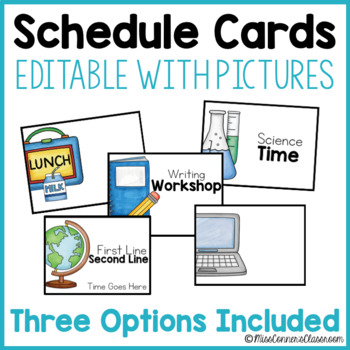 Editable Schedule Cards with Pictures