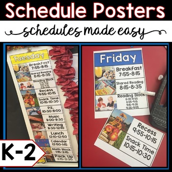 Editable Schedule Posters English and Spanish Versions