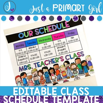 Editable Schedule Sheets