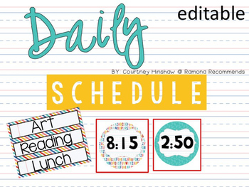 Editable Schedule and Time Cards