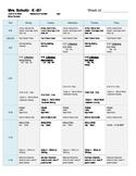 Editable Schedule!