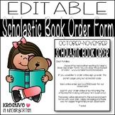 Editable Scholastic Book Order Letter
