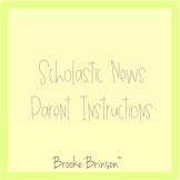 ☀️ Scholastic News Parent Instructions (Editable)