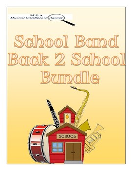 Editable School Band Back to School Bundle
