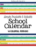 Editable School Calendar {2014-2015}