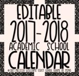 Editable School Calendar 2017-2018 SaMpLeR