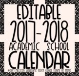 Editable School Calendar 2017-2018 SaMpLeR