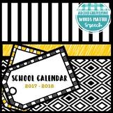 School Calendar 2017 - 2018