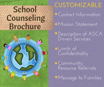 Editable School Counseling Brochure