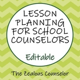 Editable School Counseling Lesson Mapping