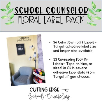Editable School Counselor Label Pack- Floral