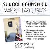Editable School Counselor Label Pack- Marble