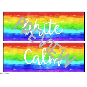 Editable School Counselor Label Pack- Rainbow Watercolor
