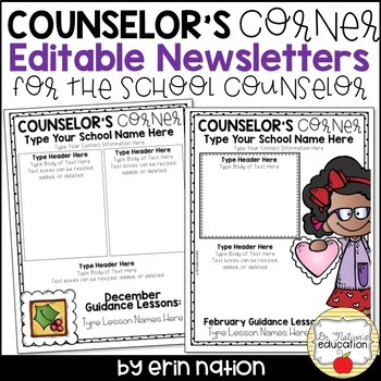 editable school counselor newsletter templates by dr nation s education
