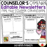 Editable School Counselor Newsletter templates
