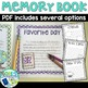 Editable School Memory Book for Target Blank Books