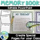 Editable End of Year Memory Book for Target Blank Books