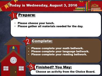 Editable School Morning Board Templates
