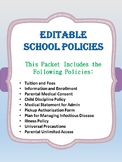 Editable School Policies-Enrollment and Information