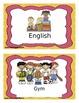 Editable School Schedule Cards