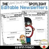 Editable School Social Worker Newsletter templates