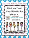 Editable School Themes Teacher Notebook Dividers