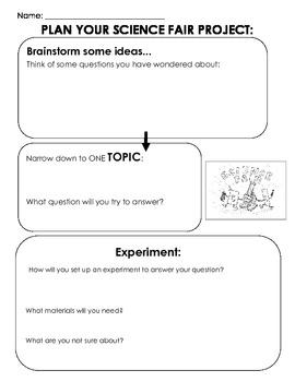 Editable Science Fair Graphic Organizer, Scientific Method Experiment set- up