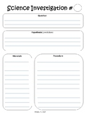 Editable Science Investigation and Experiment Template