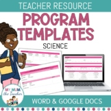 Editable Science Program Template - K-6